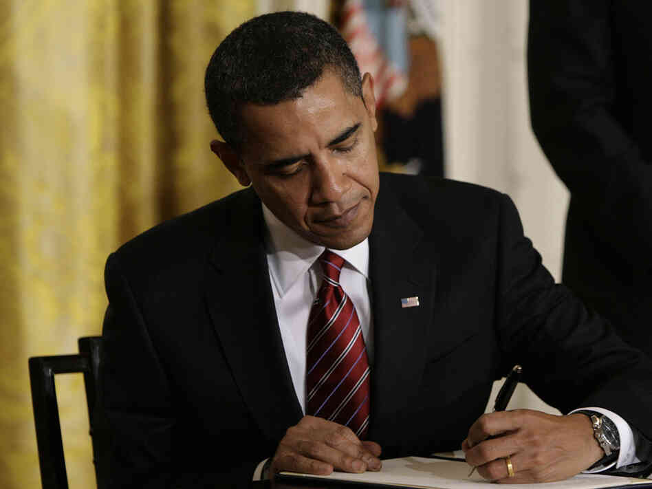 President Obama, on Jan. 30, 2009, signed executive orders reversing Bus