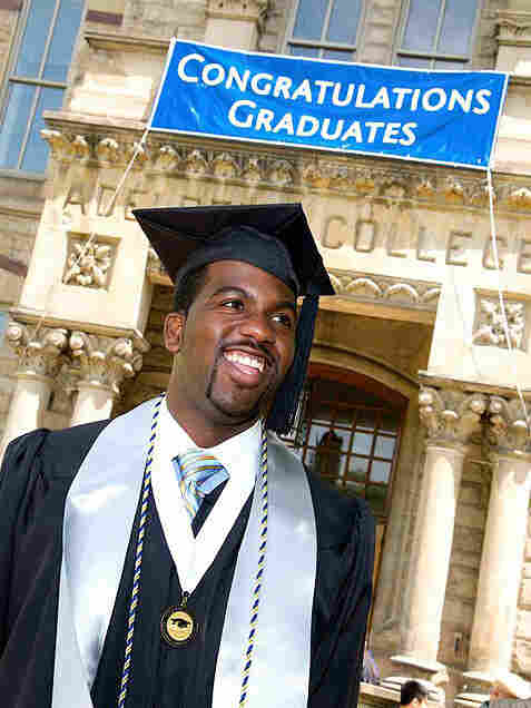 Duwain Pinder at his graduation from Case Western Reserve University.