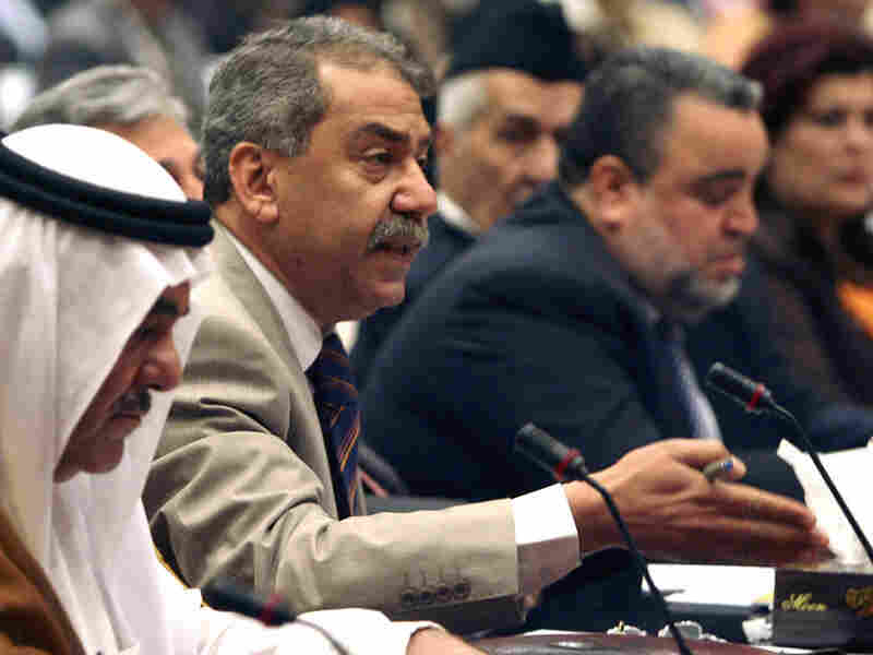 Former member of parliament Mithal al-Alousi speaks at a parliament session in 2006.