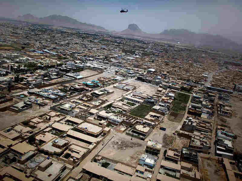 Aerial view of Kandahar city