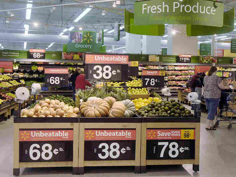 The produce section of a Wal-Mart in Rogers, Ark.