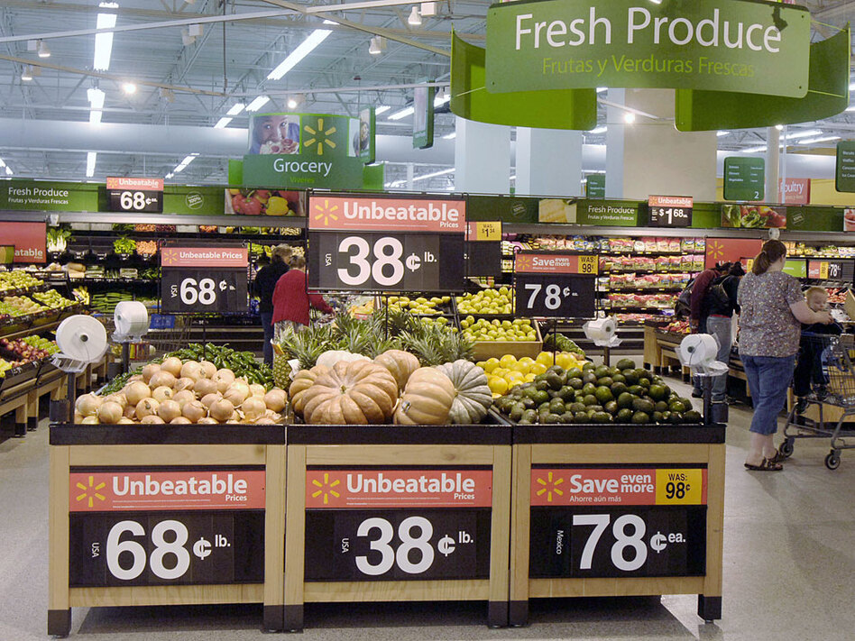 Wal-Mart says its Heritage Agriculture program reaps both financial and environmental benefits.  The company is supporting smaller, local farms in an effort to cut back on carbon emissions and freight costs.