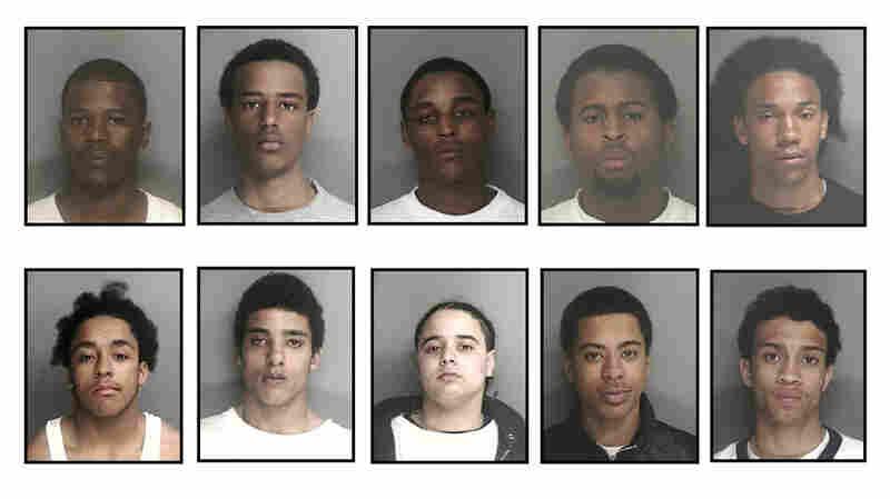 Boston Police Department's flier of alleged gang members
