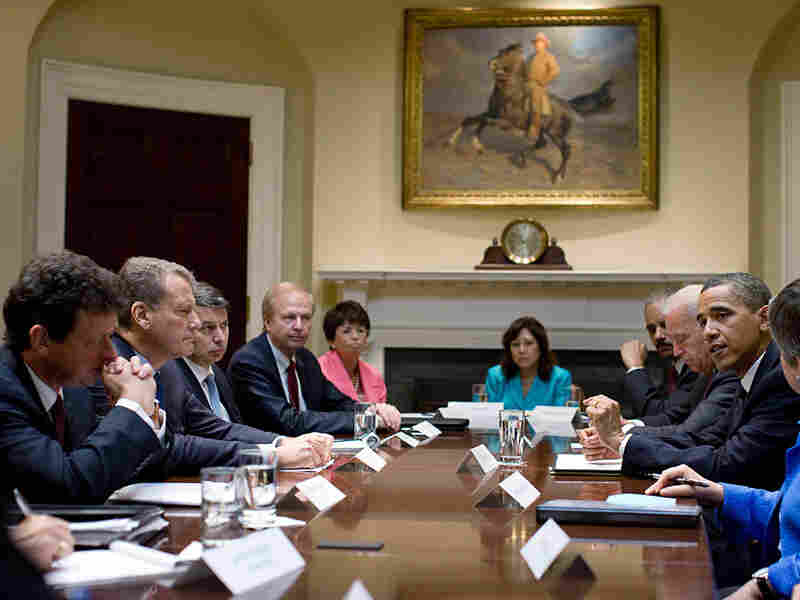 President Obama meets with BP Executives