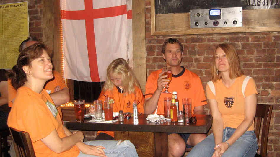Dutch fans at the Black Horse in Brooklyn