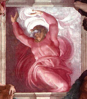 'The  Separation of Light From Darkness' was among Michelangelo's last Sistine  Chapel frescoes.