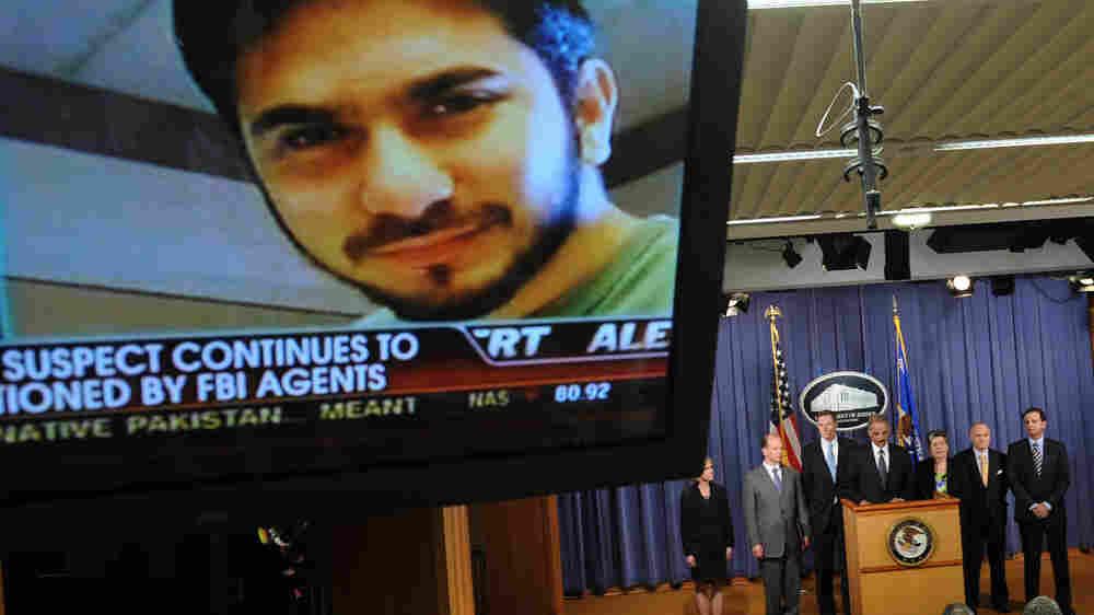 A TV image of terrorism suspect Faisal Shahzad