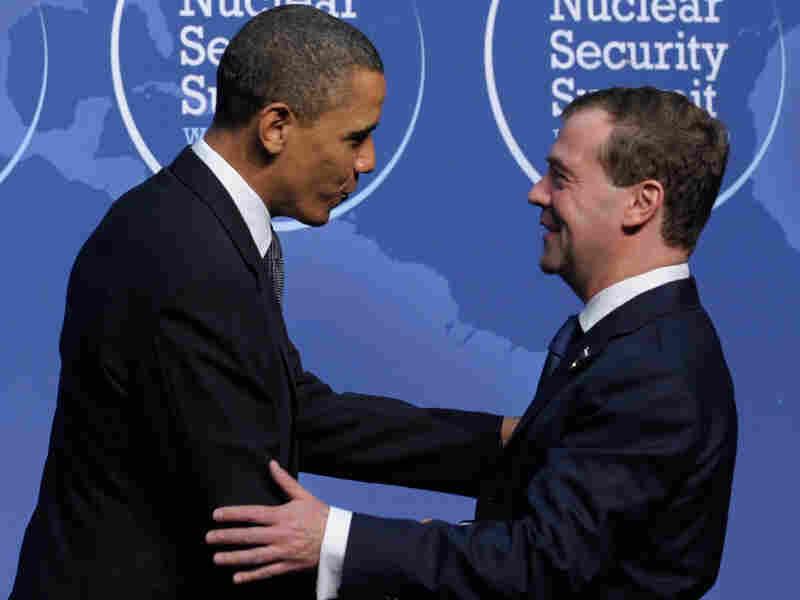 President Obama and Russian President Dmitry Medvedev