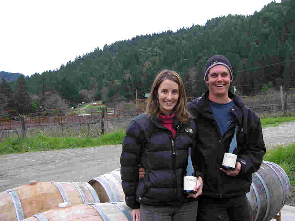 Kimberly and John Cabot, who own Cabot Winery