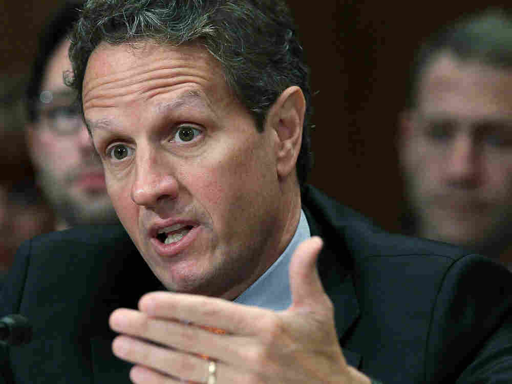 Treasury Secretary Tim Geithner testifies during a congressional hearing in June.