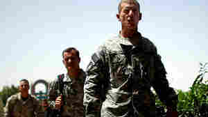 U.S. Army Gen. Stanley McChrystal enters a conference in Kandahar Afghanistan.