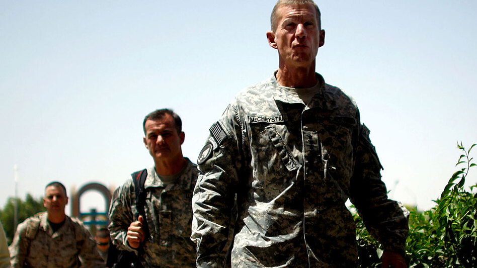 Army Gen. Stanley McChrystal, the top U.S. commander in Afghanistan, in Kandahar earlier this week.