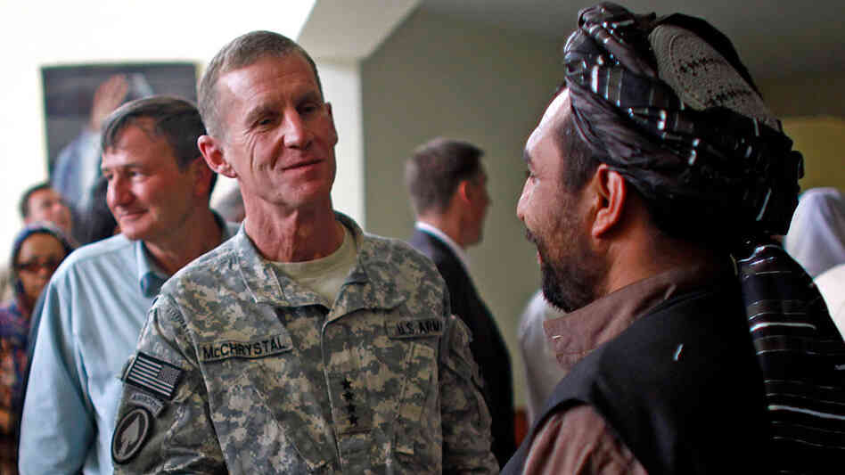 McChrystal and Eikenberry, in Afghanistan
