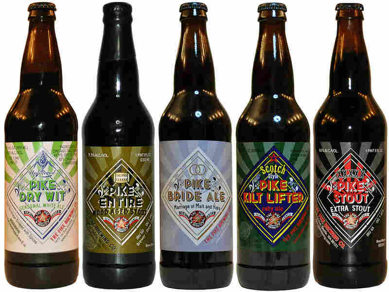 A selection of beers from The Pike Brewing Co.