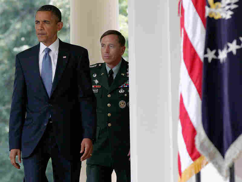 President Obama walks with Gen. David Petraeus, who will succeed Gen. Stanley McChrystal.