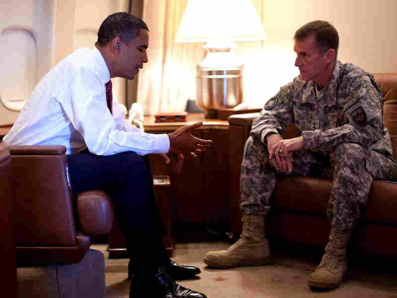 President Barack Obama and Gen. Stanley McChrysta