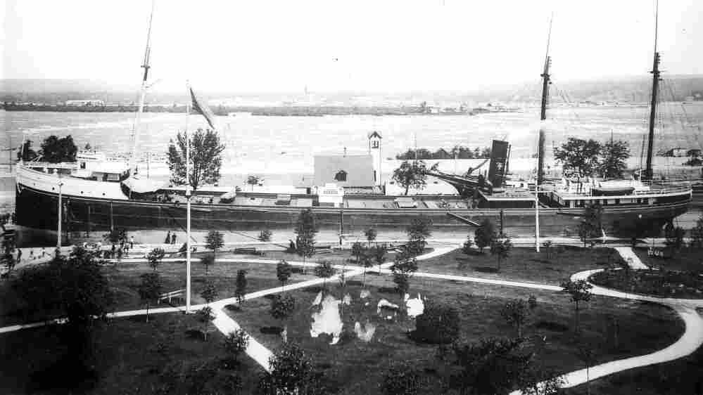 L.R. Doty at the Soo Locks, 1896