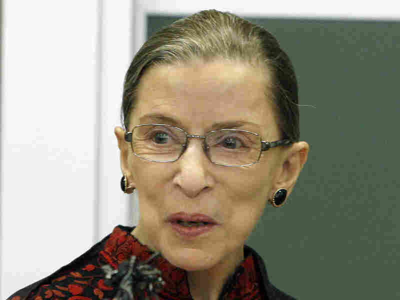 Supreme Court Justice Ruth Bader Ginsburg speaks at New England Law in Mar. 2009.