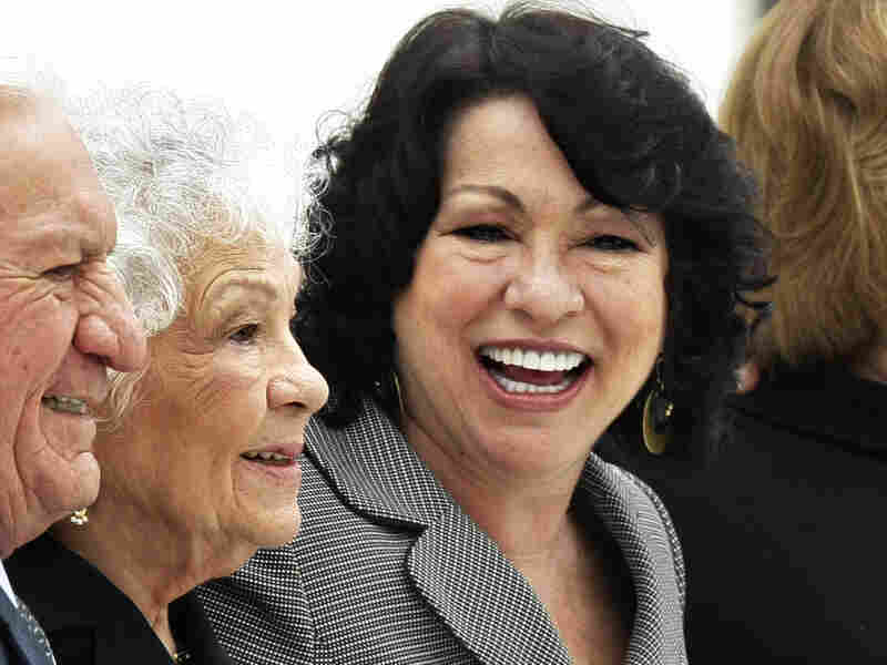Supreme Court Justice Sonia Sotomayor, right, with her mother and stepfather after her investiture.