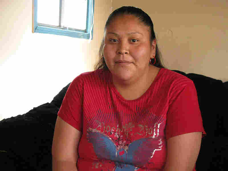 Arnelda Hatale, a member of the Navajo tribe who lives in Cortez, Col.,