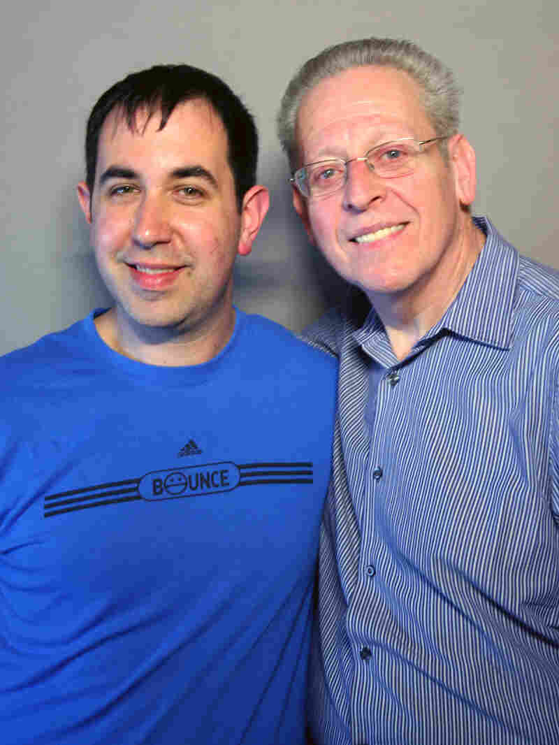 Michael Levine (right) with Matt Merlin at StoryCorps in New York.