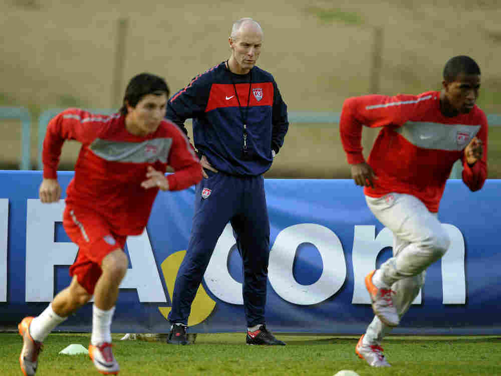 U.S. Coach Bob Bradley watches over his players. Timothy A. Clary/AFP/Getty Images