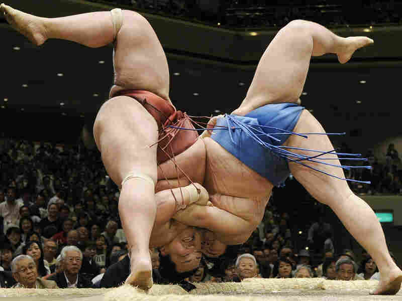 A sumo wrestling match in Japan.