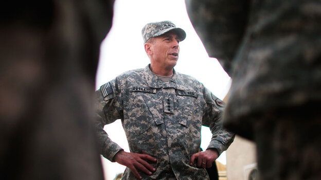 Gen. David Petraeus, as head of U.S. Central Command, in Afghanistan last October
