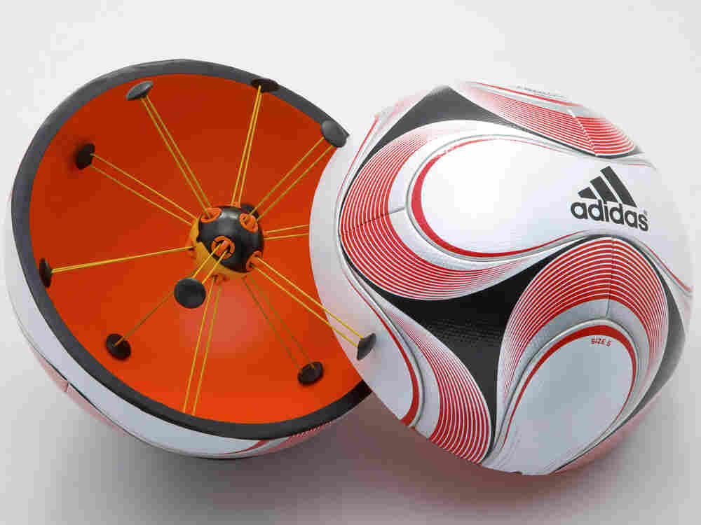 Using goal-line technology, the referee receives a signal on his watch when the ball scores.