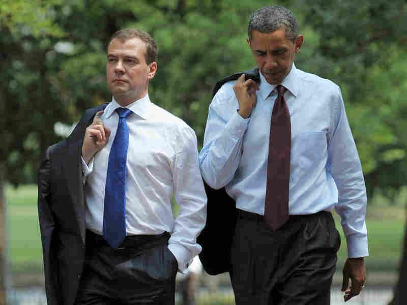 Russian President Dmitry Medvedev and President Barack Obama