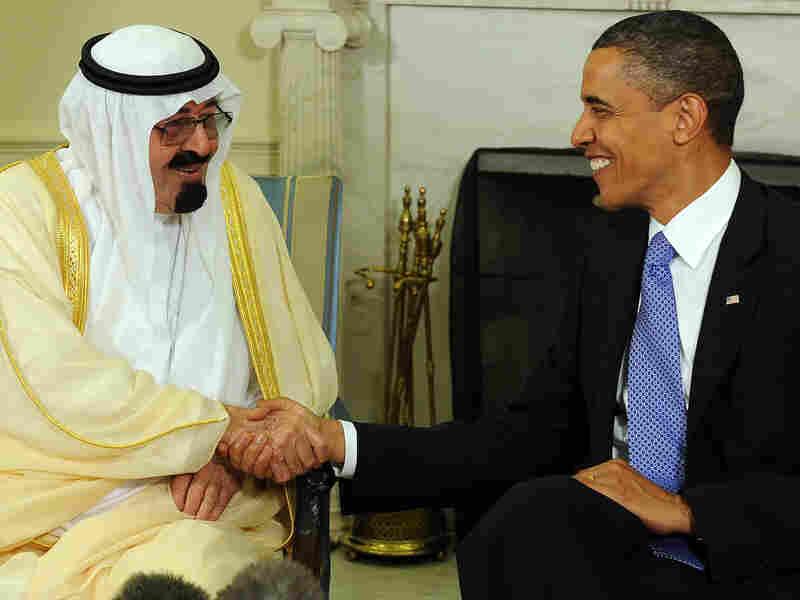President Barack Obama and Saudi Arabian King Abdullah Bin-Abd-al-Aziz Al Saud