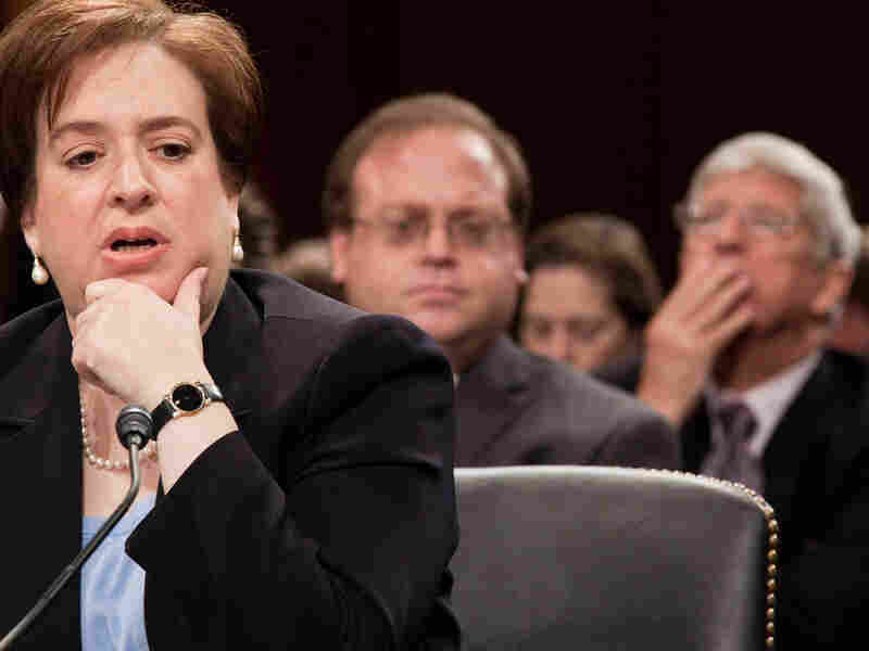 Solicitor General Elena Kagan during her nomination hearing Wednesday.