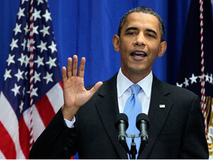 President Obama speaks about immigration policy at American University in Washington, D.C.