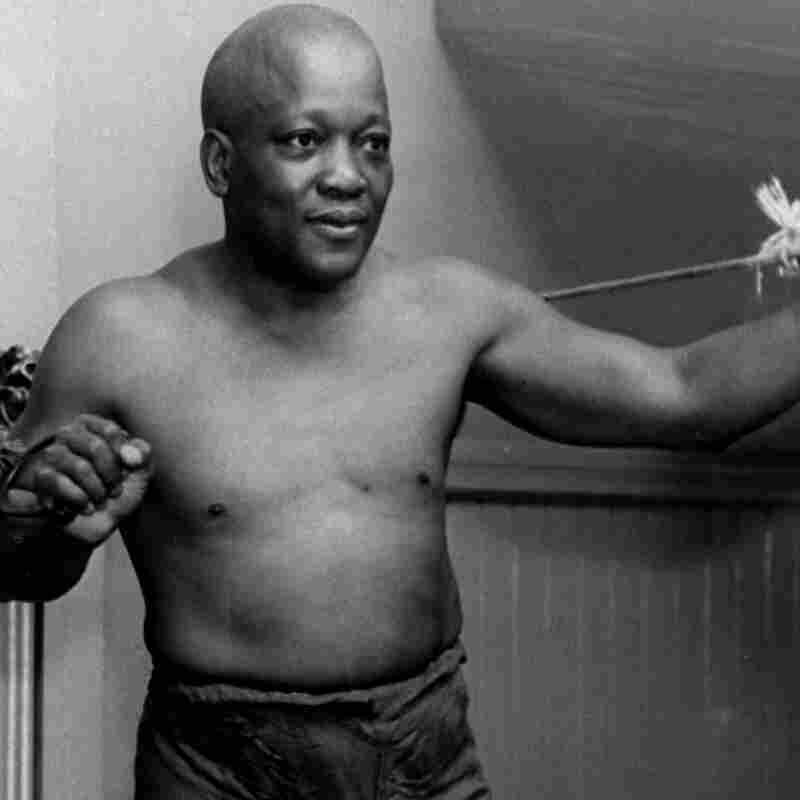 Boxer Jack Johnson is pictured
