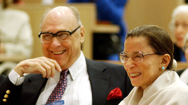 Justice Ruth Bader Ginsburg and her husband, Martin Ginsburg, at a Columbia Law School event in 2003, celebrating the 10th anniversary of her appointment to the U.S. Supreme Court. (AP)