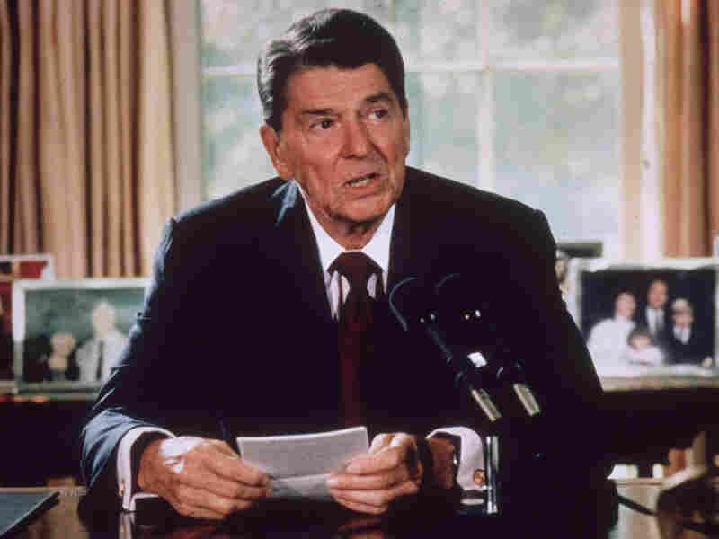 Ronald Reagan in 1985