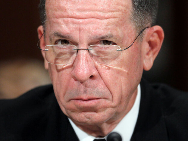 Last month Chairman of the Joint Chiefs of Staff Michael Mullen testified in Washington on the Defense Department's fiscal 2011 budget. He said recently that debt was one of the biggest threats to the United States.
