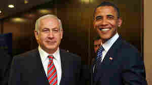 Presidential candidate Barack Obama met with Benjamin Netanyahu in Jerusaleum in July 2008