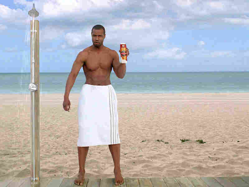 Old Spice commercial featuring ex-football player Isaiah Mustafa.