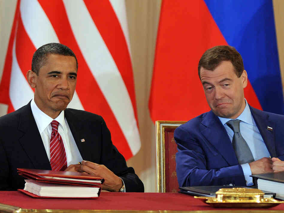 President Barack Obama and Russian President Dmitry Medvedev