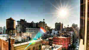 """The sun beats down on New York City, where """"cool roofs"""" are now mandatory for new construction."""