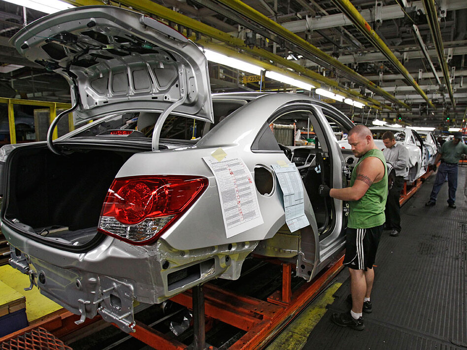A lot is riding on the new chevy cruze wbur news for General motors assembly plant