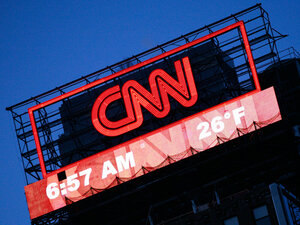 A billboard for CNN