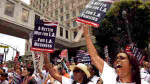 Budget shortfalls have been a persistent problem in Los Angeles, where city workers rallied in 2009.