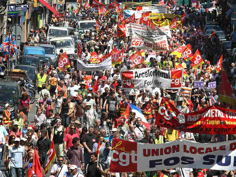 In Marseille, protesters march against decision to raise retirement age in France