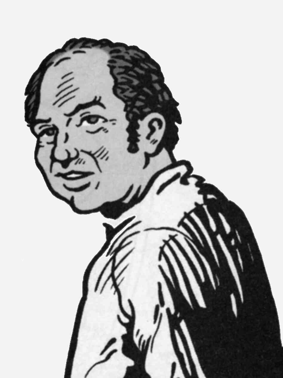 Comic version of Harvey Pekar