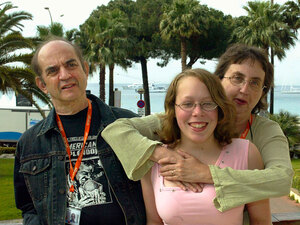 Harvey Pekar, Joyce Brabner and foster daughter Danielle