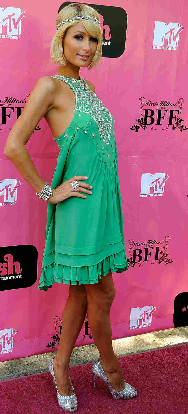 Paris Hilton is famous, in part for her 'My New BFF' TV show.