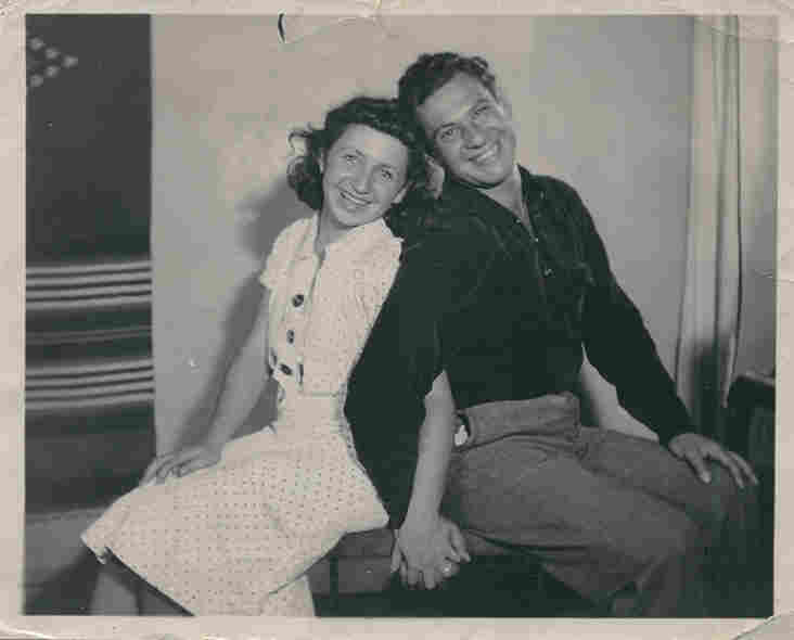 Barbara and Harry Cooper when they were young and recently married.