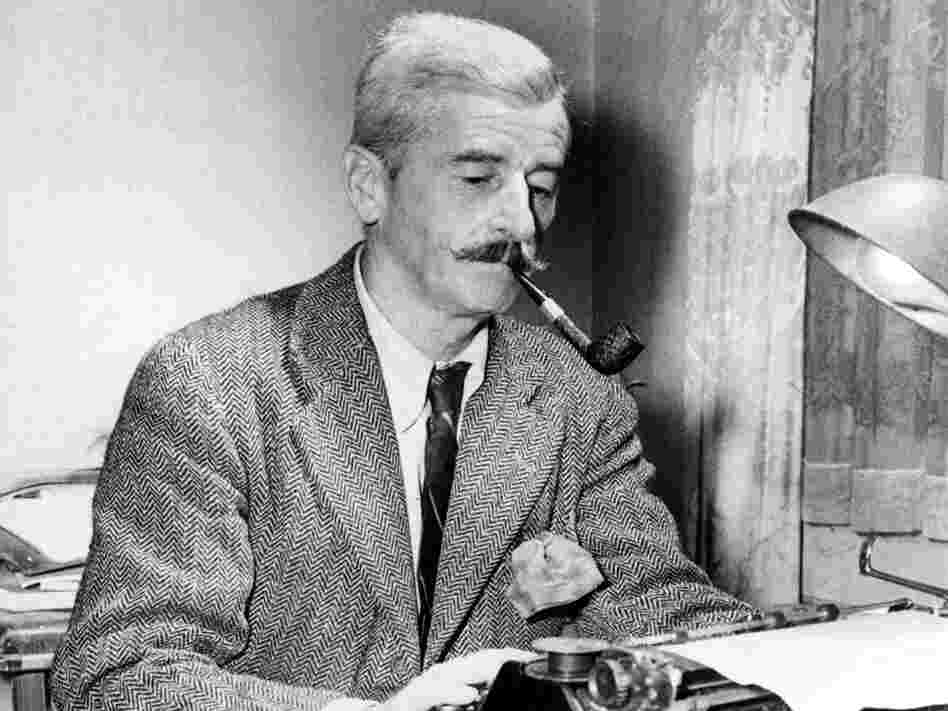 Novelist William Faulkner at his Rowan Oaks home near Oxford, Miss., in November 1950.